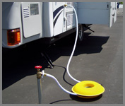 Cordpro CP100 being used on RV Water Hose